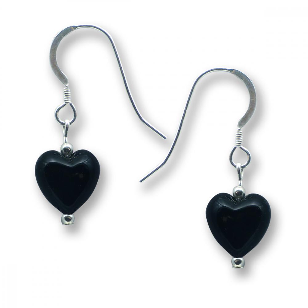 Murano Glass Heart Earrings - Gaia Photo