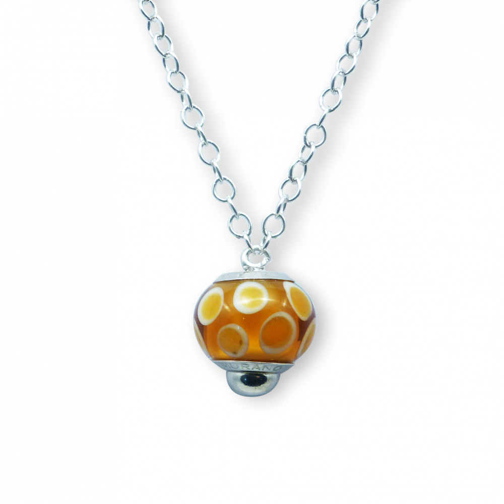 Murano glass charm bead necklet  – Venezia Otto Photo