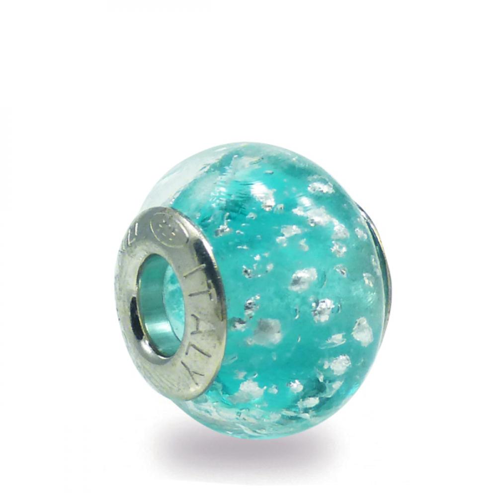 Murano Glass Charm Bead - Nove Photo