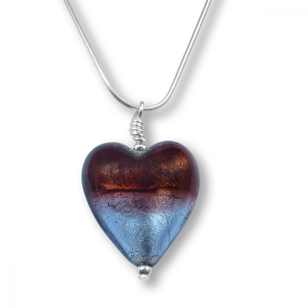 Murano Glass Heart Pendant - Esta Ruby Photo