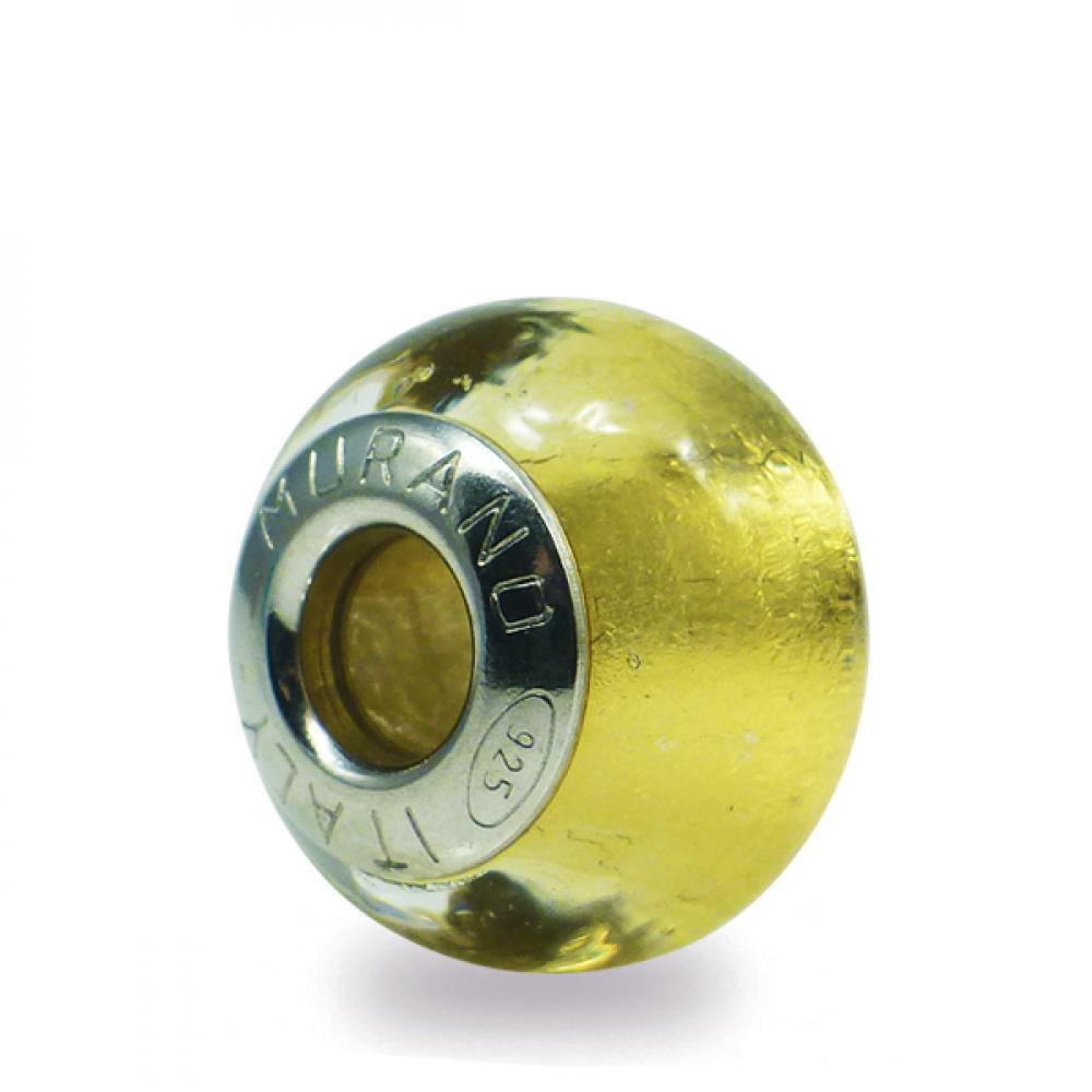 Murano Glass charm bead - Sette crystal gold Photo