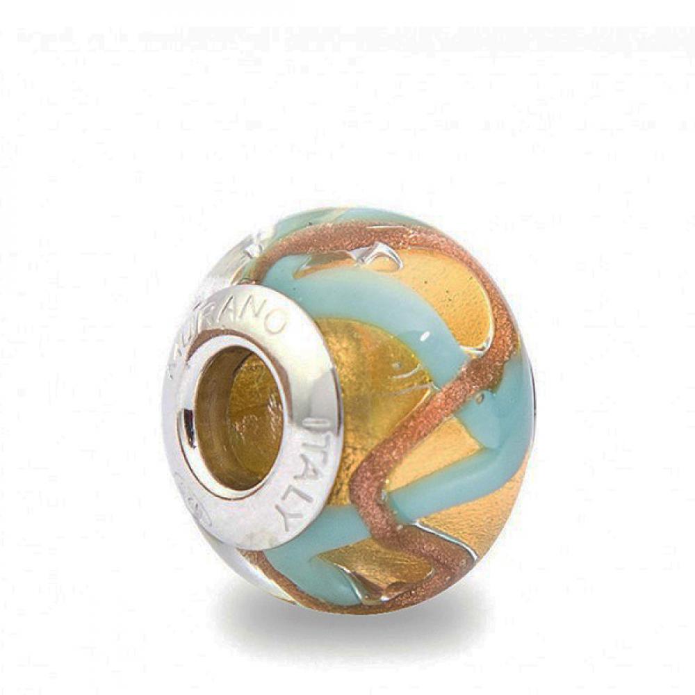 Murano Glass Charm Bead - Due Photo