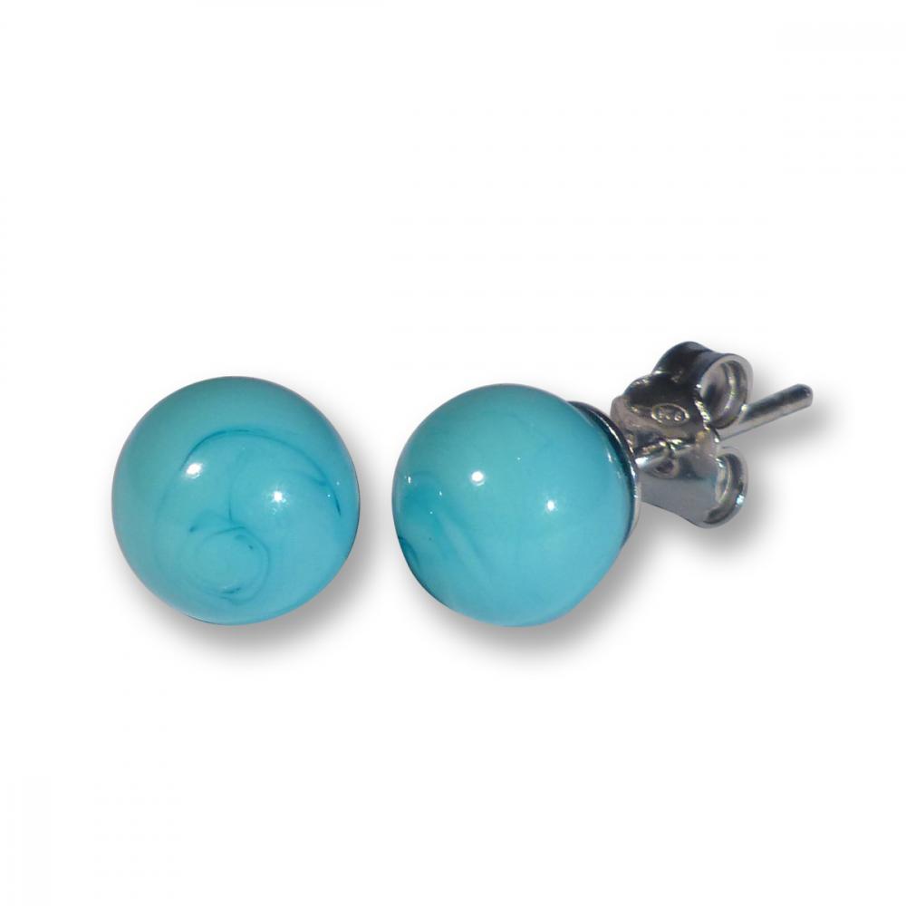 Murano Glass Stud Earrings - Julietta Photo