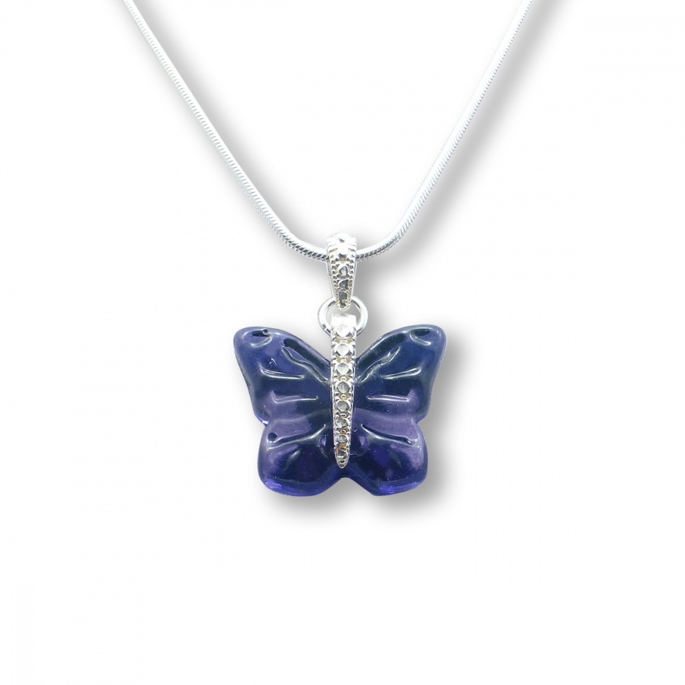Murano Glass Butterfly Pendant – Farfalle Viola Photo