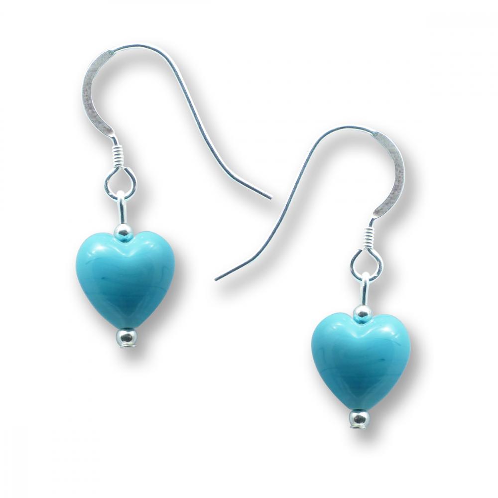 Murano Glass Heart Earrings - Julietta Photo