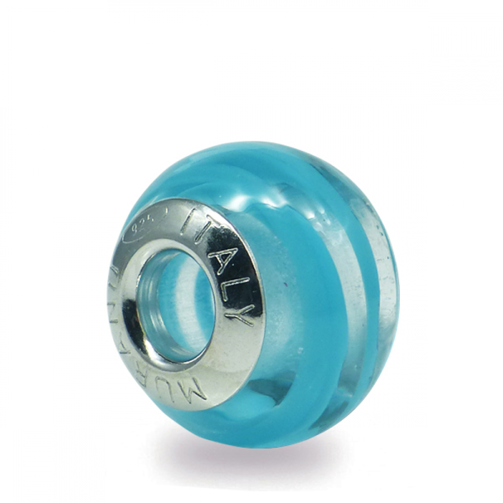 Murano Glass charm bead - Undici-blu Photo