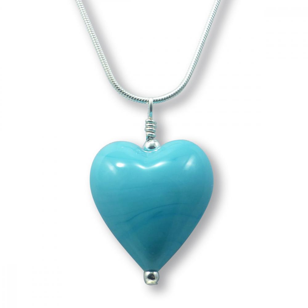 Murano Glass Heart Pendant - Julietta Photo