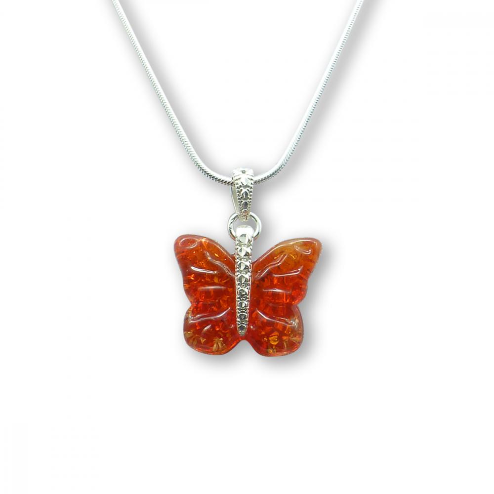 Murano Glass Butterfly Pendant – Farfalle Rosso Photo
