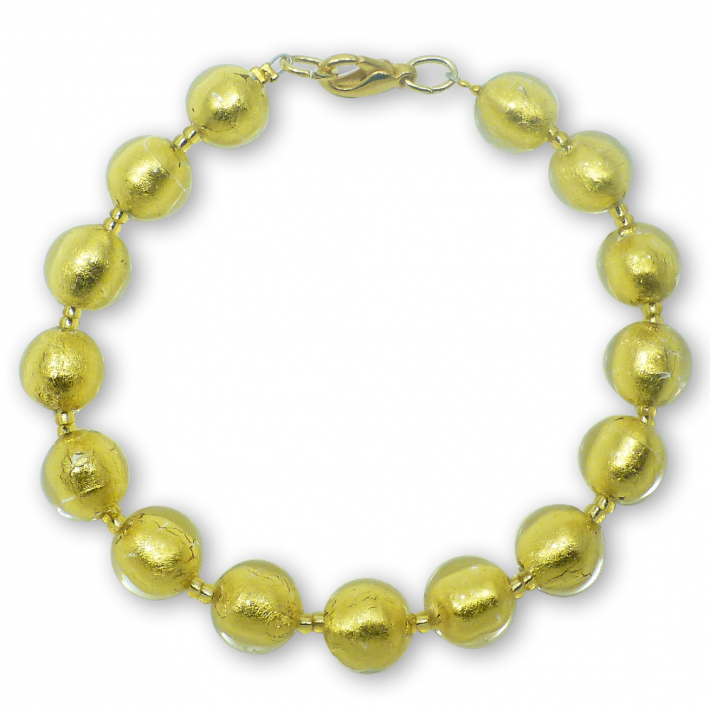 Murano Glass Bracelet - Gianna Gold Photo