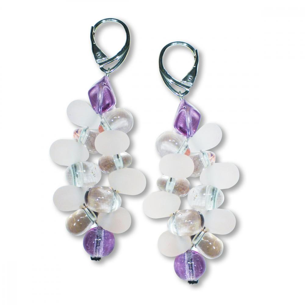 Murano Glass Earrings - Piera Coral Photo