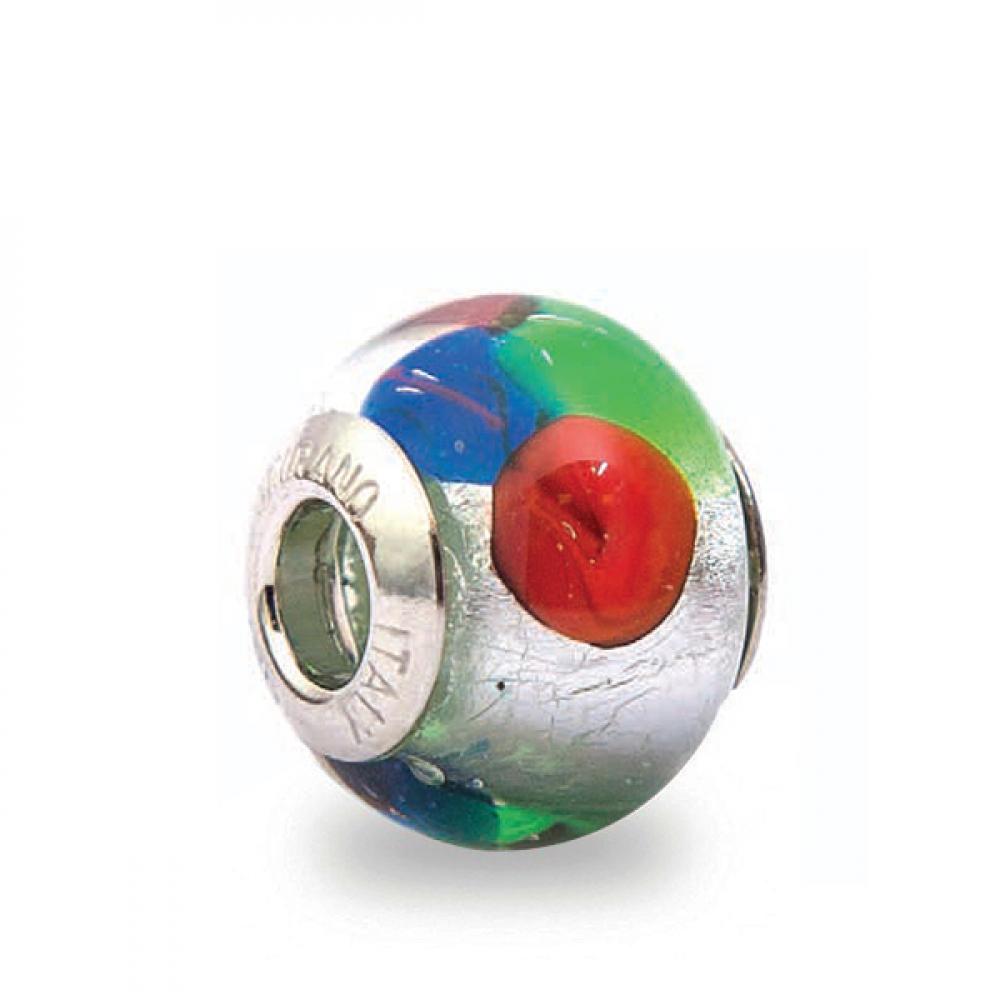 Murano Glass Charm Bead - Cinque Photo