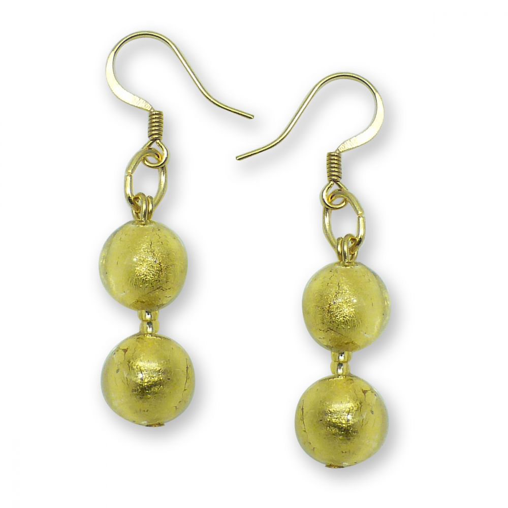 Murano Glass Earrings - Gianna Gold Photo