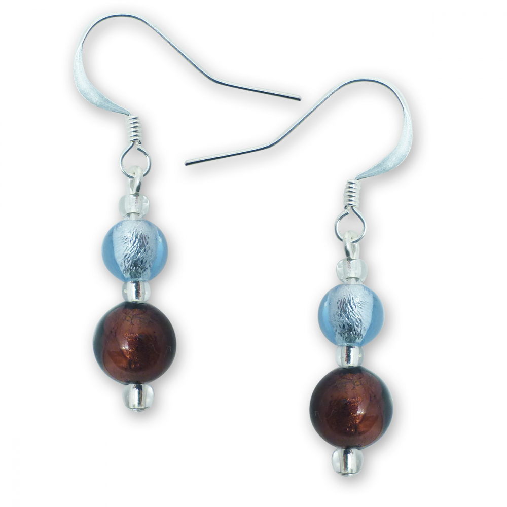 Murano Glass Earrings - Esta Ruby Photo