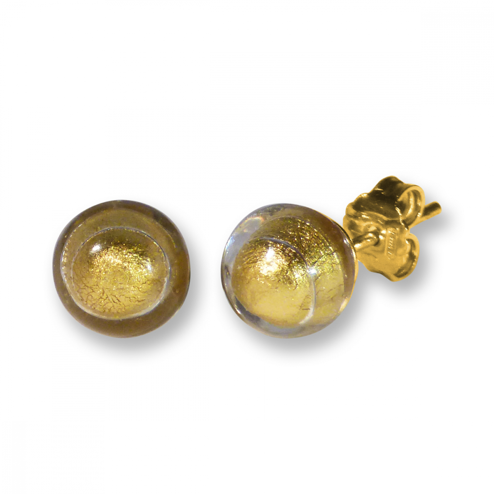 Murano Stud Earrings - Esta Gold Photo