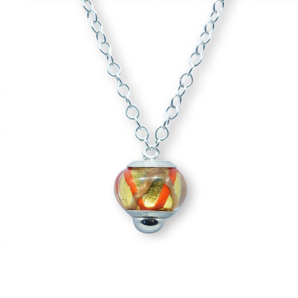 Murano glass charm bead necklet – Venezia Trentadue Photo