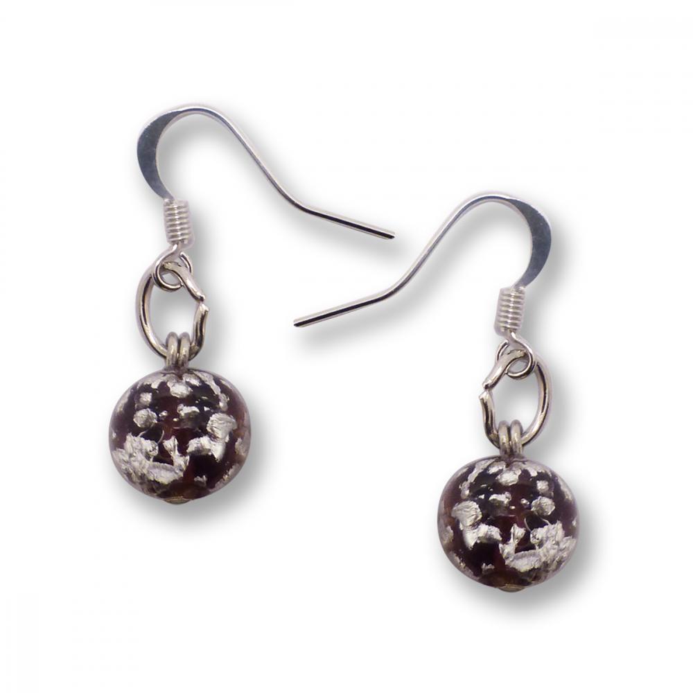 Murano Glass Earrings - Brina Dark Crimson Photo
