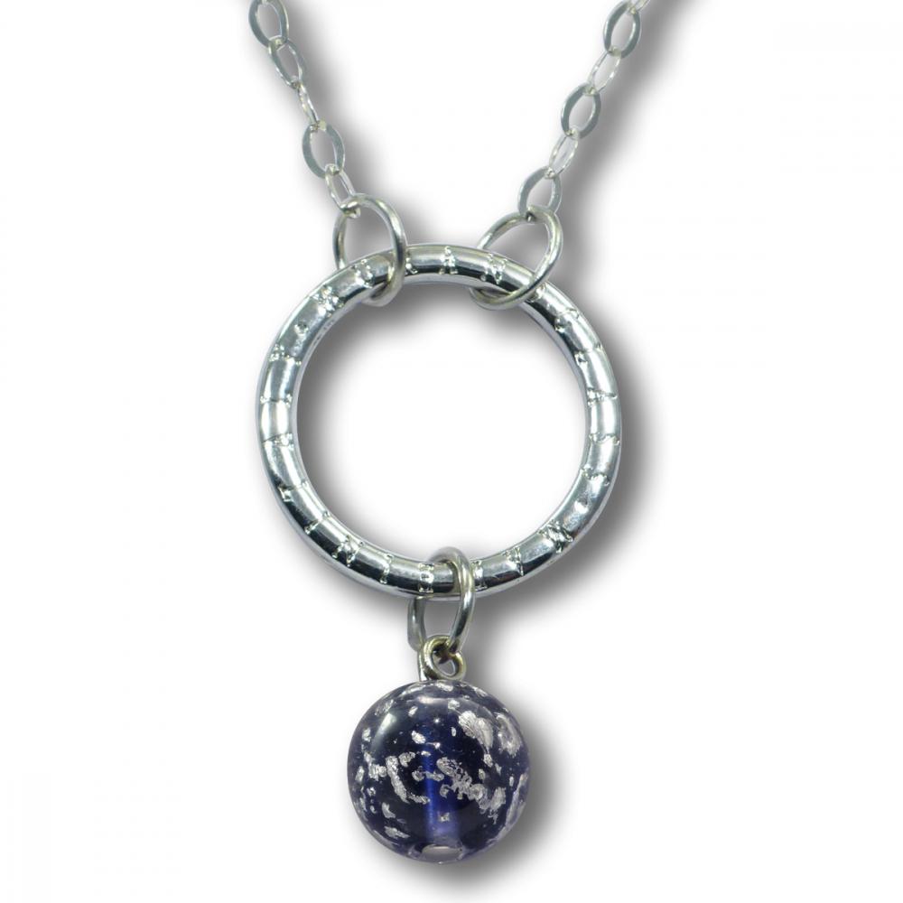 Murano Glass Necklet - Brina Dark Violet Photo