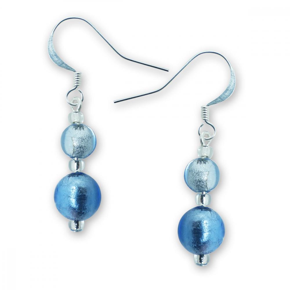 Murano glass earrings - Esta Azure Photo