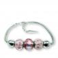 Murano glass charm bead silver bracelet - Genoa Photo