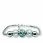 Murano glass charm bead silver bracelet - Pisa Photo