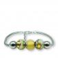 Murano glass charm bead silver bracelet - Florence Photo