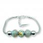 Murano glass charm bead silver bracelet - Trieste Photo