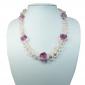 Murano glass necklace - Piera Coral Uno Photo
