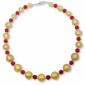 Murano Glass Necklace - Luna Gold Matt Photo