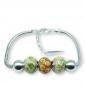 Murano glass charm bead silver bracelet - Verona Photo