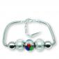 Murano glass charm bead silver bracelet - Napoli Photo