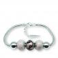 Murano glass charm bead silver bracelet - Palermo Photo