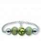 Murano glass charm bead silver bracelet - Turin Photo